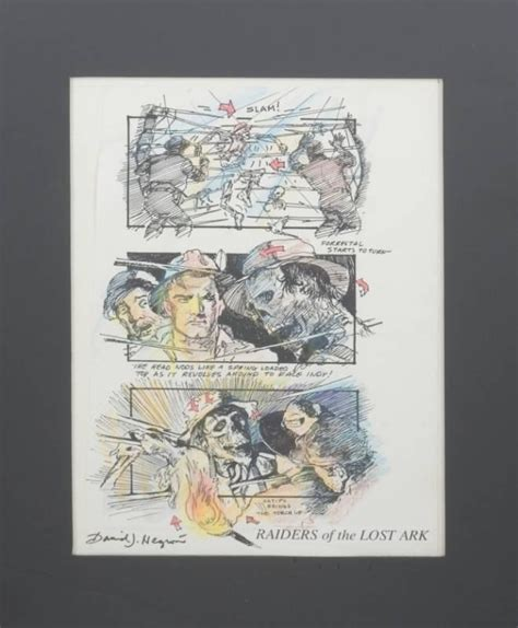 """""""RAIDERS OF THE LOST ARK"""" STORYBOARD - Current price: $200"""