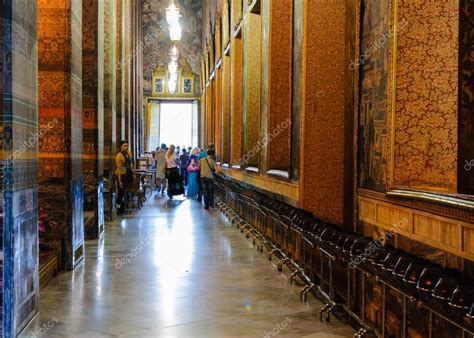 Wat Pho buddhist temple with the 108 bronze bowls