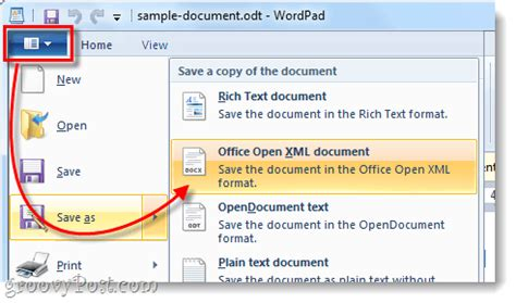 How to Convert OpenOffice ODT Documents to Microsoft Word