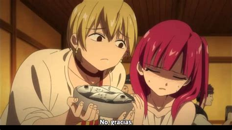 Morgiana eats fish - Magi - YouTube