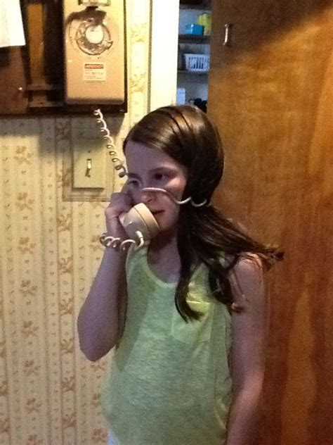 Carrie always seemed to get tangled up in her phone