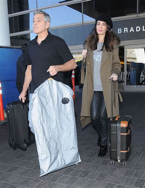 George & Amal Clooney: Baby On The Way? Possible Bump Pics
