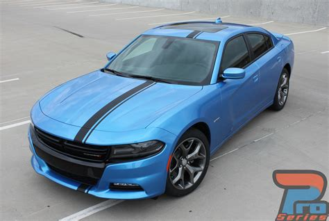 Dodge Charger Racing Stripes EURO RALLY Hood Vinyl Graphic