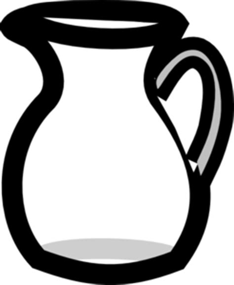 Empty Water Pitcher Clip Art at Clker