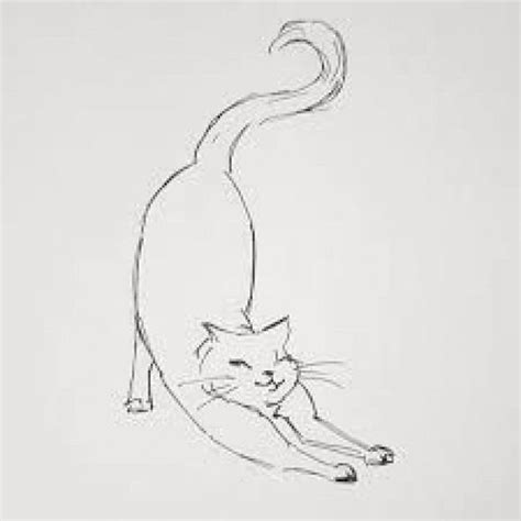 how to draw a cat stretching - Google Search #stretching #